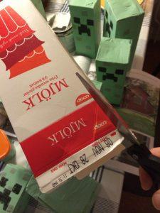 Klippa mjölkpaket