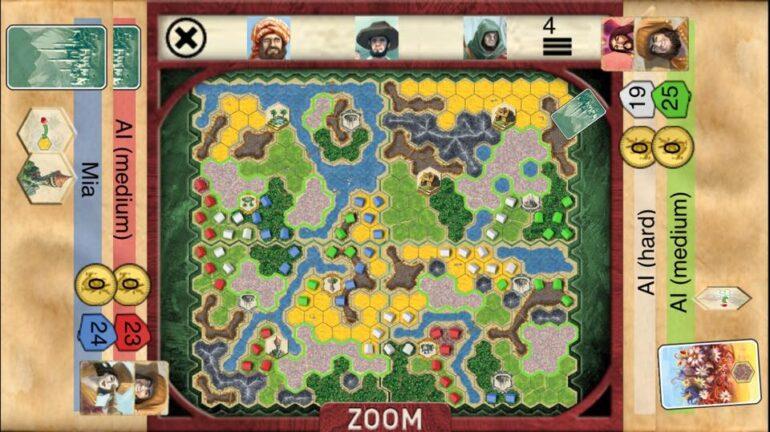 Skärmdump från Kindom Builder i iPhone
