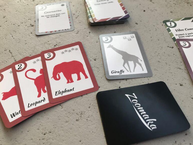 Kortspelet Zoomaka, några av korten